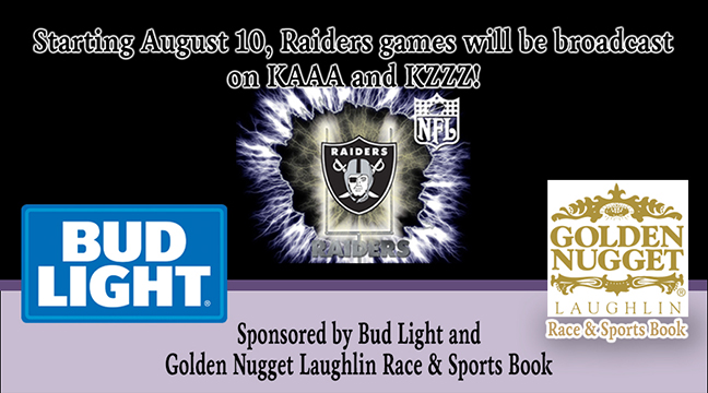 Raiders Games on KAAA and KZZZ