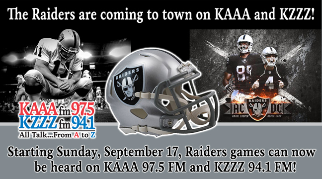 The Raiders Games on All Talk - KAAA and KZZZ